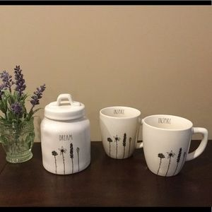 New Rae Dunn DREAM & INSPIRE Canister and Mugs